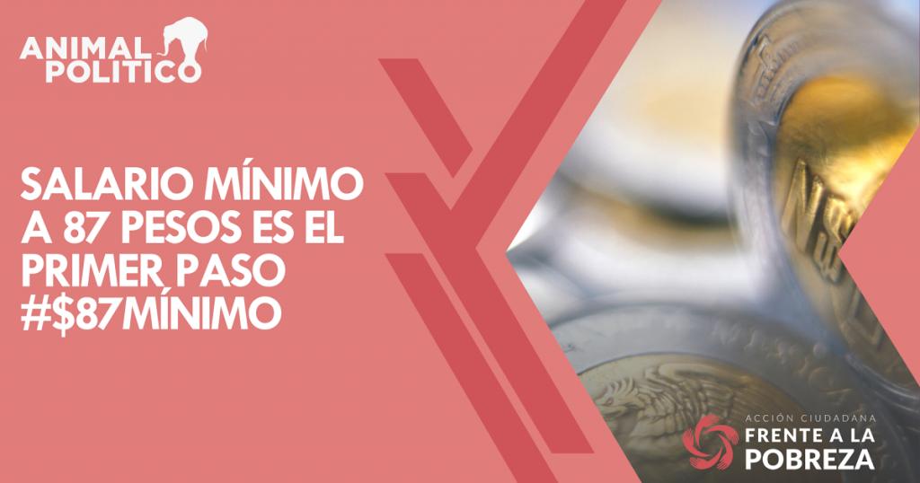 Salario mínimo a 87 pesos es el primer paso #$87Mínimo
