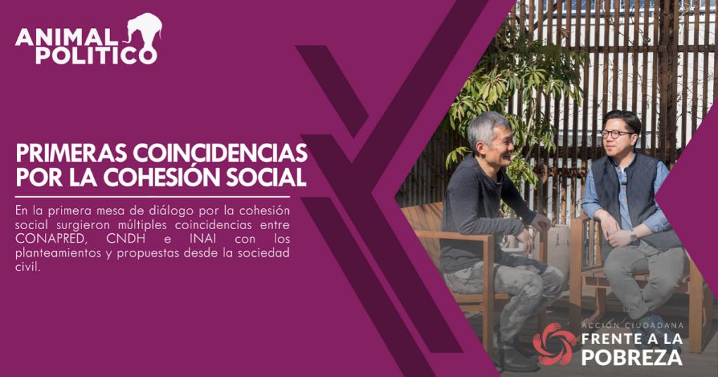 Primeras coincidencias por la cohesión social