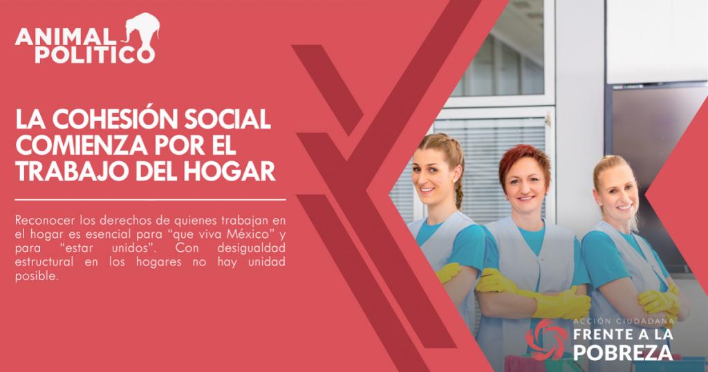 La cohesión social comienza por el trabajo del hogar