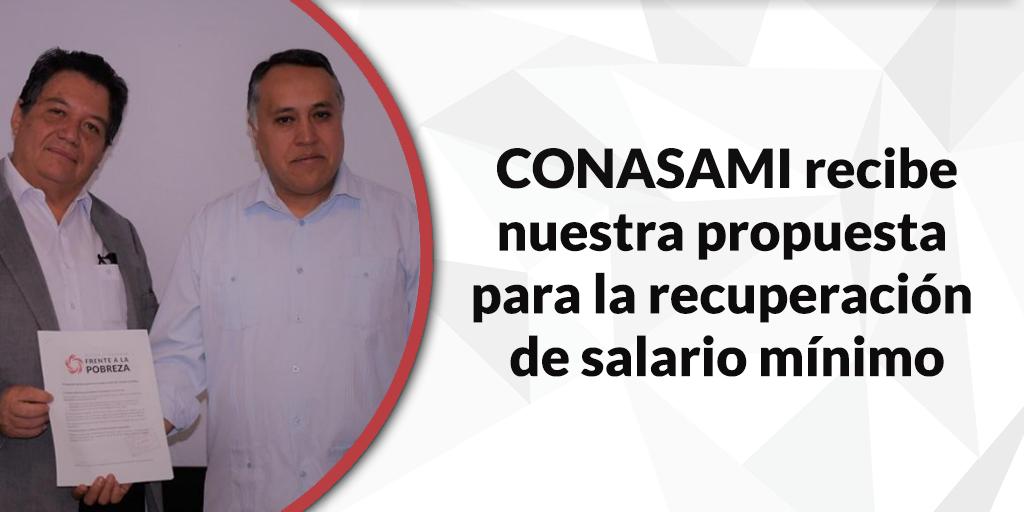 """Plena coincidencia en alcanzar el salario mínimo suficiente para una familia, dice el Presidente de CONASAMI a """"Frente a la Pobreza"""""""