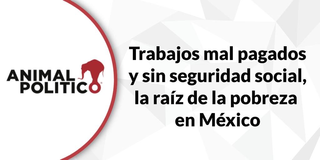 Blog de Animal Político: Trabajos mal pagados y sin seguridad social, la raíz de la pobreza en México