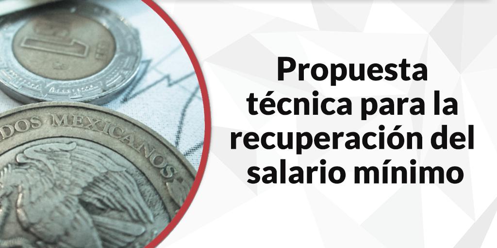 Propuesta técnica para la recuperación del salario mínimo